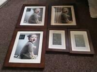 Dark Wooden photo frames