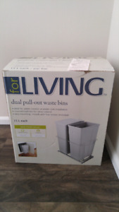 Brand new dual pull out waste bins