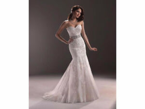 Maggie Sottero Ascher (Ivory over Pearl Rose) Wedding Dress