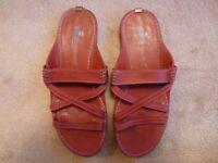 Ladies Red Timberland Sandals