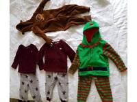 Boys fleece pyjamas and onesies bundle age 2-3 including gruffalo and elf