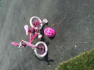 "14"" princess bike and helmet"