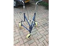 Three wheeled mobility walker