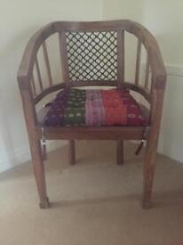 Myakka Katina rosewood chair with Myakka cushion