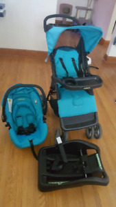 Cosco Stroller, Car Seat and Base