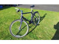Saracen Terratrax bicycle with various accessories including Shimano PD-M515 pedals