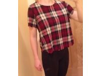 Red checked top