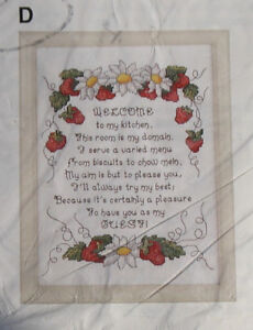 Strawberry Welcome - counted cross stitch kit