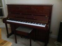Samick mahogany high gloss upright piano
