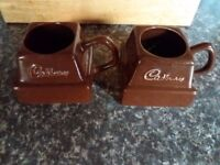 *** 2 Retro Cadburys Dairy Milk Chunk Promotional Mugs *** £10