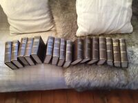 Antique Set of 16 Hardback Copies of Charles Dickens Works : Excellent Condition printed in Watford