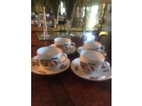 Royal Worcester Evesham Gold Tea Cups & Saucers