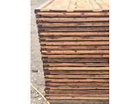 🛠New Brown Wayneylap Fence Panels < New > Pressure Treated