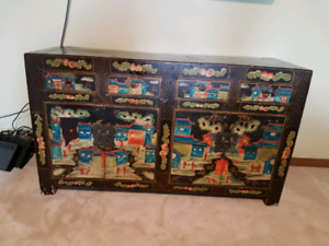 Antique Asian inspired cabinet