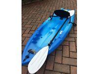 """Equinox 6ft 6"""" (2m) Sit On Kayak + Paddle (Brand New - Unused!)"""