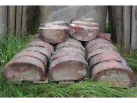 Bull-nosed bricks.