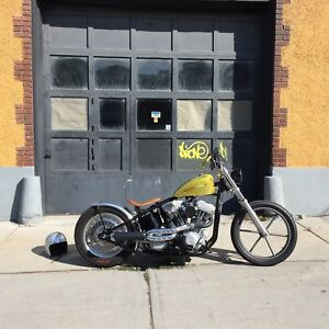 Bobber Chopper with Harley Drivetrain