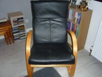 For sale - black chair with wooden frame - £10