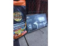 BBQ new in the box and full bag of XXL coal. COLLECTION from Shortlees in Kilmarnock