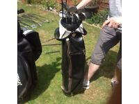 Black Golf Bag with Clubs