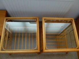 Glass Topped Wicker Coffee Tables