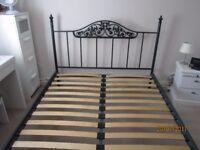 5ft King Size bed ornate tubular steel frame