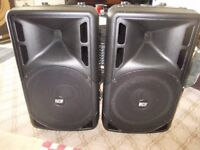 brand new boxed pair matching rcf art 315/312 passive pa speakers
