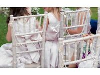 78 sets of chiavari chair pearls wedding chair covers