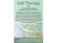Salt room treatments (helping you to breathe free/freely)