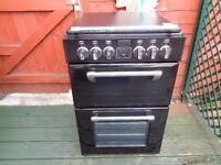 STOVES CERAMIC ELECTRIC COOKER 55 CM DOUBLE OVEN LIKE NEW