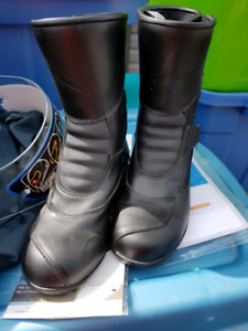 Womens motorcycle boots.