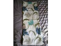 Cream and teal curtains 90x90