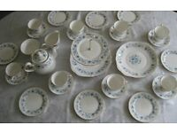 Eight place china tea set - Braganza by Colclough