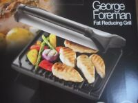 BNIB GEORGE FOREMAN FAT REDUCING GRILL LARGE 7 PORTION ENTERTAINING SIZE BBQ BUFFET