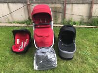 Britax Afinity Travel System chilli pepper red