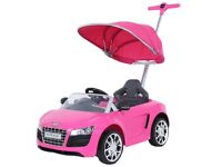 Pink Audi Pushalong Car