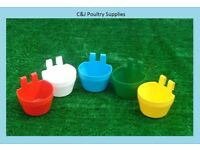 NEW 10 X GALLEY POT CAGE CUP POULTRY DOVE PIGEON FEEDER DRINKER GRIT CUP