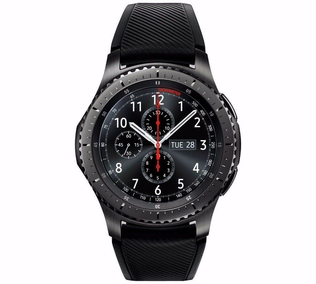Samsung Gear S3 Frontier Smart Watchin Slough, BerkshireGumtree - The Gear S3 has the aesthetics of a truly premium watch with advanced features built right into the watch design thats why its so easy and effortless to use. Its also built for you to go days without needing to recharge. You get to feel free with the...