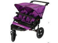 Out and About, double buggy. Latest Model 9mo old