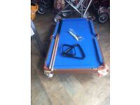 Table top pool table £5.00