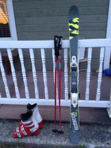 Skis alpin et bottes