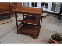 Patio drinks or food trolley with bottle rack