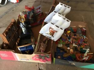 Pirate ships and toys