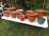Misc Lot -Garden planters - good condition just wash with soapy water to look great