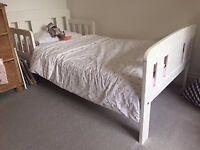 John Lewis Boris toddler bed with organic bamboo cot bed mattress