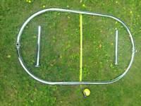 Oval shower rail chrome