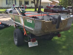 14 ft aluminum fishing boat with trailer