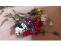 dried flowers and a reange of oustanding flower arranging equipment