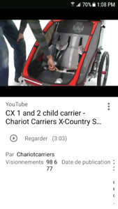 Chariot cx2 double