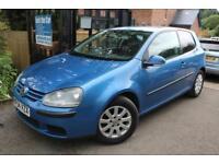 2004 (54 Plate) Volkswagen Golf 1.6 SE FSI 3 Door Blue GEARBOX FAULT Long MOT